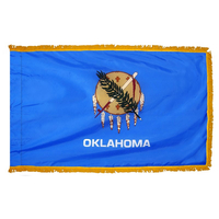 4x6 ft. Nylon Oklahoma Flag Pole Hem and Fringe