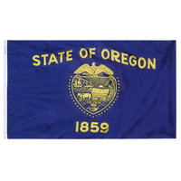 5x8 ft. Nylon Oregon Flag with Heading and Grommets