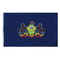 6x10 ft. Nylon Pennsylvania Flag with Heading and Grommets