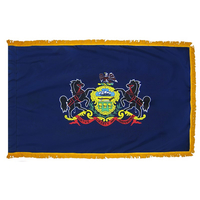 3x5 ft. Nylon Pennsylvania Flag Pole Hem and Fringe