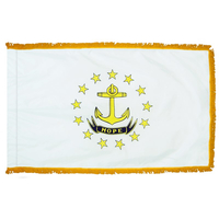 4x6 ft. Nylon Rhode Island Flag Pole Hem and Fringe