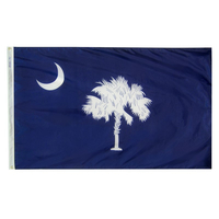 3x5 ft. Nylon South Carolina Flag with Heading and Grommets