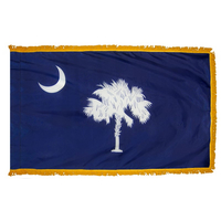 3x5 ft. Nylon South Carolina Flag Pole Hem and Fringe