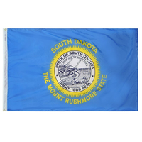 5x8 ft. Nylon South Dakota Flag with Heading and Grommets