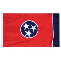 2x3 ft. Nylon Tennessee Flag with Heading and Grommets