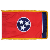 3x5 ft. Nylon Tennessee Flag Pole Hem and Fringe