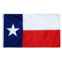 8x12 ft. Strong Polyester Texas Flag with Roped Header