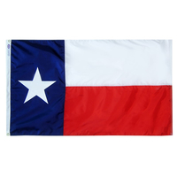 12x18 in. Poly Cotton Printed Texas Flag-12 Pack