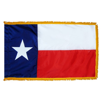 3x5 ft. Nylon Texas Flag Pole Hem and Fringe