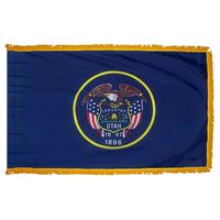 3x5 ft. Nylon Utah Flag Pole Hem and Fringe