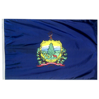 3x5 ft. Nylon Vermont Flag with Heading and Grommets