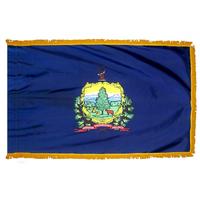 4x6 ft. Nylon Vermont Flag Pole Hem and Fringe