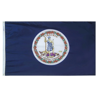 5x8 ft. Nylon Virginia Flag with Heading and Grommets