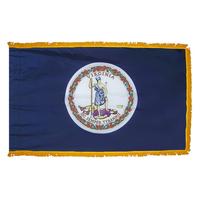 4x6 ft. Nylon Virginia Flag Pole Hem and Fringe