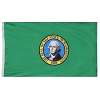 5x8 ft. Nylon Washington Flag with Heading and Grommets
