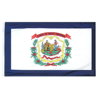 6x10 ft. Nylon West Virginia Flag with Heading and Grommets