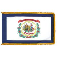 4x6 ft. Nylon West Virginia Flag Pole Hem and Fringe