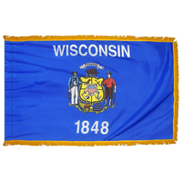 3x5 ft. Nylon Wisconsin Flag Pole Hem and Fringe
