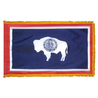 3x5 ft. Nylon Wyoming Flag Pole Hem and Fringe