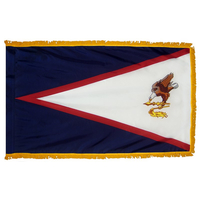 4x6 ft. Nylon American Samoa Flag Pole Hem and Fringe