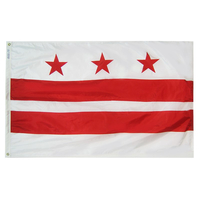5x8 ft. Nylon District of Columbia Flag with Heading and Grommets