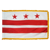 3x5 ft. Nylon District of Columbia Flag Pole Hem and Fringe