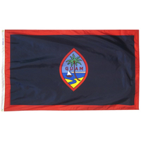 2x3 ft. Nylon Guam Flag with Heading and Grommets