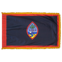 4x6 ft. Nylon Guam Flag Pole Hem and Fringe