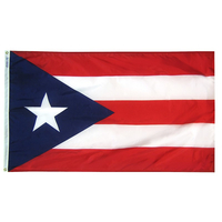 5x8 ft. Nylon Puerto Rico Flag with Heading and Grommets