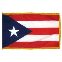 3x5 ft. Nylon Puerto Rico Flag Pole Hem and Fringe