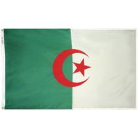 2x3 ft. Nylon Algeria Flag Pole Hem Plain