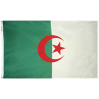 3x5 ft. Nylon Algeria Flag Pole Hem Plain