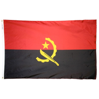 5x8 ft. Nylon Angola Flag with Heading and Grommets