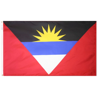 4x6 ft. Nylon Antigua/Barbuda Flag Pole Hem Plain