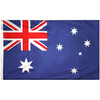 3x5 ft. Nylon Australia Flag Pole Hem Plain