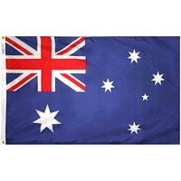 3x5 ft. Nylon Australia Flag Pole Hem Plain
