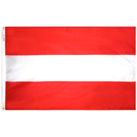 3x5 ft. Nylon Austria Flag Pole Hem Plain
