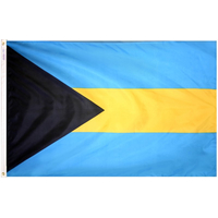 5x8 ft. Nylon Bahamas Flag with Heading and Grommets