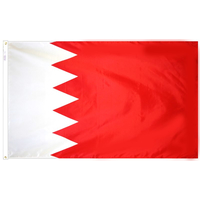 4x6 ft. Nylon Bahrain Flag Pole Hem Plain