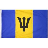 3x5 ft. Nylon Barbados Flag Pole Hem Plain