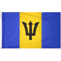 4x6 ft. Nylon Barbados Flag Pole Hem Plain