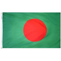 2x3 ft. Nylon Bangladesh Flag Pole Hem Plain