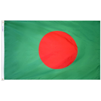 5x8 ft. Nylon Bangladesh Flag with Heading and Grommets