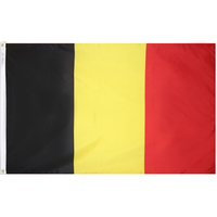 4x6 ft. Nylon Belgium Flag Pole Hem Plain