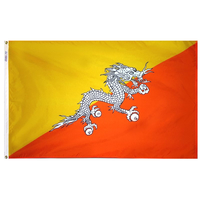 3x5 ft. Nylon Bhutan Flag Pole Hem Plain