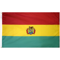 3x5 ft. Nylon Bolivia Flag Pole Hem Plain