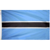 3x5 ft. Nylon Botswana Flag Pole Hem Plain