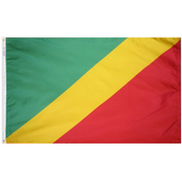 2x3 ft. Nylon Congo Republic Flag Pole Hem Plain