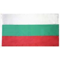 4x6 ft. Nylon Bulgaria Flag Pole Hem Plain