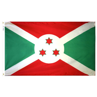 4x6 ft. Nylon Burundi Flag Pole Hem Plain